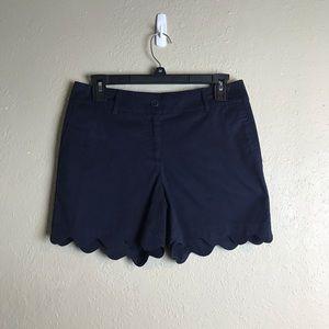Talbots Shorts - Talbots scallop hem navy shorts 2P 2 petite R20
